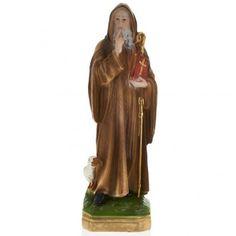 Estatua San Benito 30 cm. yeso