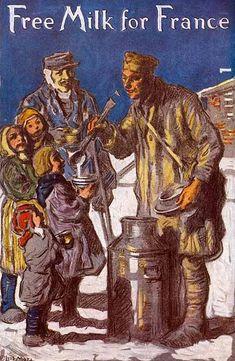 Francis Luis Mora (1874 – 1940, Uruguayan-born American)  Free Milk For France  http://iamachild.wordpress.com/2012/11/20/francis-luis-mora-1874-1940-uruguayan-born-american/