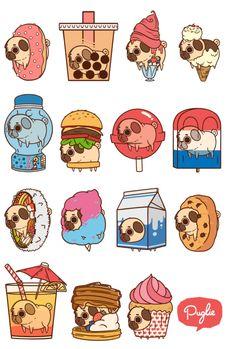 pug cartoon   Tumblr