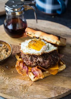 Smoky Maple & Sage Breakfast Pork Burger is perfect for breakfast or dinner. A sweet and smoky burger crust makes these burgers one of a kind!