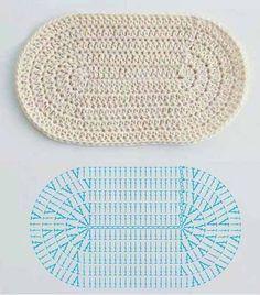 вязание овала крючком