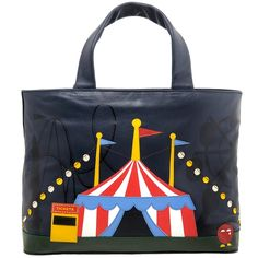 ebb1e2433373 Yoshi Hampton Limited Edition Circus Big Top Leather Handbag   Grab Bag by Yoshi  Lichfield Autumn