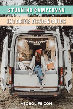 Ever wondered how you can create your own stunning campervan interior? You may be surprised but it's not as difficult as you might think! Though some pre-planning and research is required before your van build we think you, too, can design your own gorgeous campervan interior. #fordtransitcamper #campervaninterior #campervanconversion Van Conversion Ford Transit, Ford Transit Camper, Interior Design Guide, Wood Stain Colors, Floor Plan Layout, Campervan Interior, Moroccan Design, Mercedes Sprinter, Blue Accents