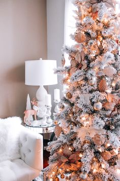 Christmas Decor   Blondie in the City   Pink & Rose Gold Christmas Decor   Hot Chocolate in Moscow Mules