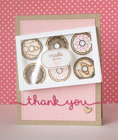 """the Lawn Fawn blog: Yainea's Brilliant """"Box of Donuts"""" Card"""