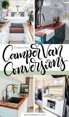Check out these 6 gorgeous Camper van conversions to inspire your next adventure Motorhome Interior, Campervan Interior, Converted Vans, Camper Van Conversion Diy, Van Conversion Kitchen, Van Home, Sprinter Camper, Faux Shiplap, Van Living