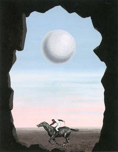 The Lost Jockey ~ Rene Magritte   Lone Quixote René Magritte 1898 - 1967  More @ FOSTERGINGER At Pinterest