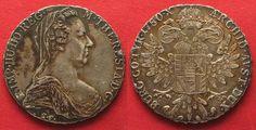1935-1939 Haus Habsburg AUSTRIA Maria Theresa Thaler 1780 (Rome 1935-1939) silver XF # 92914 vz