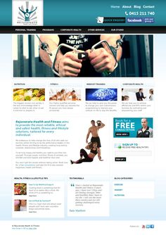 Web design we recently launched for Rejuvenate Health. They were very happy with the results! Personal Training Programs, Portfolio Web Design, Web Design Services, Fitness Nutrition, Happy