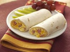 Mother's Day Breakfast Wraps can be any kind Mom likes great for breakfast in bed!