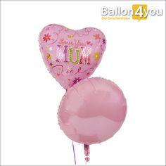 """Muttertagsballon in rosa mit Blumen verziert       """"Ich liebe dich Mama"""", drückt dieser Ballongruß sehr liebevoll aus. Zum Muttertag eine sehr originelle Geschenkidee. Statt immer nur Blumen und Schokolade zu schenken, gibt es dieses Mal zwei prächtige Folienballons in Rosa. An diesem einen Tag im Jahr wird Mama nach allen Regeln der Kunst verwöhnt und es beginnt mit diesem Ballonduo um den Tag perfekt zu starten."""