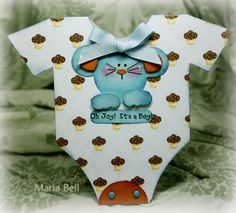 Cute boys little onsie from the Shape Cards Vol. 2 http://www.myscrapchick.com/product.cfm?product=244 from Maria Bell's blog: Inspired and Unscripted
