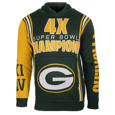 Green Bay Packers Super Bowl Commemorative Acrylic Hoody from UglyTeams