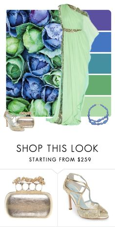 """""""Colorful Cabbages"""" by alara-cary ❤ liked on Polyvore featuring Marchesa, Alexander McQueen and Bella Belle"""