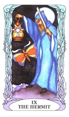 The Hermit ~ Tarot of a Moon Garden Major Arcana Cards, Tarot Major Arcana, The Hermit Tarot, Tarot Card Meanings, Moon Garden, Oracle Cards, Tarot Decks, Archetypes, Tarot Cards
