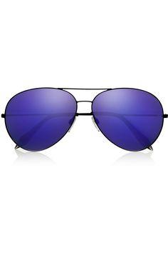 Victoria Beckham|Classic Aviator metal mirrored sunglasses|NET-A-PORTER.COM