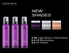 Schwarzkopf Professional IGORA Expert Mousse New Shades.