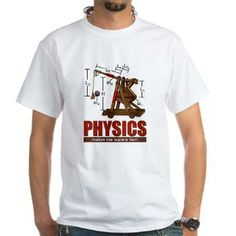 Physics Trebuchet Catapult White T-Shirt #STEM #catapults