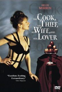 The Cook the Thief His Wife & Her Lover. Directed by Peter Greenaway. Disturbing, but great commentary on food, sex and excess. Mind blowing set design and use of color. And costumes by Jean Paul Gaultier!