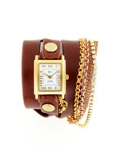 Women's Brown & Crystal Multi Wrap Watch by La Mer Collections on Gilt  LUV LUV LUV IT!