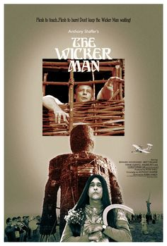 THE WICKER MAN (Robin Hardy, 1973) Creepy, Scary, Wicker Man, Movie Covers, Thing 1, Advertising Poster, Classic Films, Horror Movies, Beast