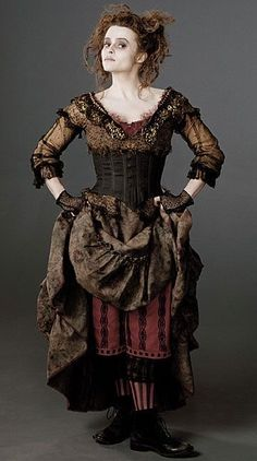 Theatre Costumes, Movie Costumes, Cool Costumes, Tim Burton Costumes, Broadway Costumes, Ballet Costumes, Colleen Atwood, Helena Bonham Carter, Helen Bonham