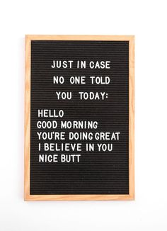 The Vintage Revivals inch classic black felt letterboard is perfect for the home, office or school! Display your favorite quotes, menu plans, bus Quotes Thoughts, Life Quotes Love, Quotes To Live By, Quotes Home, Home Sayings, Single Quotes Humor, Funny Couple Quotes, Funny Quotes And Sayings, Going Home Quotes