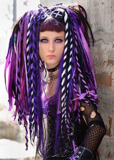 Purple hairfalls