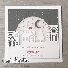 Hearts come home kerstkaartjes Die Cut Christmas Cards, Stamped Christmas Cards, Christmas Hearts, Christmas Card Crafts, Stampin Up Christmas, Xmas Cards, Christmas Christmas, Karten Diy, Nouvel An