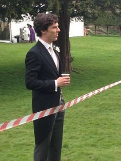 """From Londonphile on Tumblr:  April 24, 2013. My friend just met the Sherlock cast filming S3 by accident!!!  She saw Benedict, Martin, Rupert and Louise; they were filming the wedding scene.  She said Benedict's not allowed to take photos with fans, but he's really nice and chats with fans.  Her comment on Benedict as I quote """"He is even more handsome in real life. His eyes are amazing."""" #setlock"""