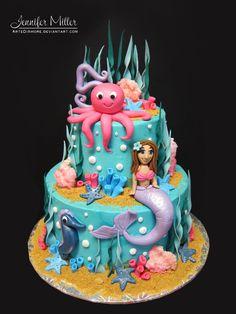 Mermaid cake... by Jennifer Miller