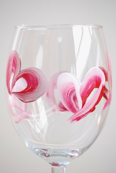 HandPainted Wine Glass RED HEART Bridesmaid by artbycherylp, $5.00