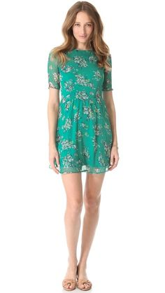 Ella Moss Citrus Floral Dress // i absolutely love longer sleeves on these simple shift dresses
