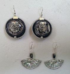 Argento e ancora argento - orecchini fatti con capsule Nespresso
