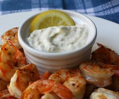 Grilled shrimp with Aioli sauce.Delicious shrimp recipe.An excellent appetizer and starter for a summer barbecue.