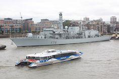 'HMS Portland' came in.