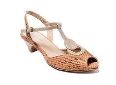 קלואי חום-זהב | נעלי קיץ על עקבים שני בר