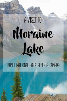 A Visit to Moraine Lake in Alberta's Banff National Park | If you are planning a trip to Banff National Park, Moraine Lake is absolutely a must-see! This vibrant turquoise-coloured lake and surrounding landscapes are so breathtakingly beautiful and awe-inspiring. Explore the pristine natural beauty and enjoy the tranquil atmosphere at this gorgeous lake. Check out my blog post for more information and lots of photo inspiration for your future travels!