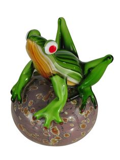 Features:  -Hand blown art glass.  Product Type: -Figurine.  Style: -Traditional.  Theme: -Animal.  Subject: -Reptiles and amphibians.  Finish: -Multi color.  Handmade: -Yes.  Primary Material: -Glass