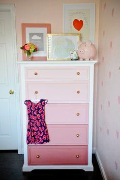 Ombre Dresser | DIY Nursery Decor | Home Improvement Ideas by DIY Ready at http://diyready.com/diy-nursery-decor/