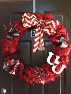 University of Utah football wreath. #goutes #universityofutah