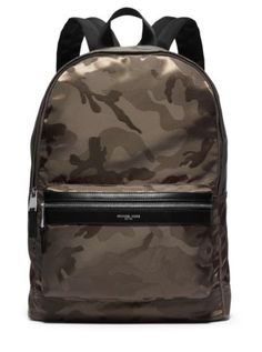 05ef9bbf890b7c Kent Camouflage Nylon Jacquard Backpack $228 Michael Kors Backpack, Michael  Kors Men, Camo Backpack