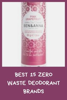 Zero waste deodorants are the best alternative for everybody searching for a deodorant that is perfect for their body and the environment compared to the conventional, chemical-overloaded, and mass-produced deodorants prepared from big customer product businesses.With the accumulation of toxins, such as aluminum