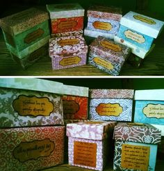 DIY tea boxes for your girls´ small group :)