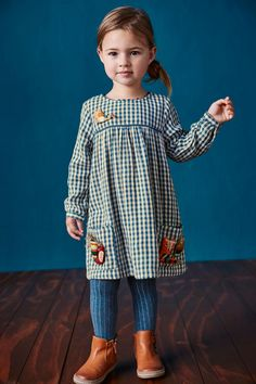 Buy Blue/White Gingham Character Dress (3mths-6yrs) online today at Next: Belgium