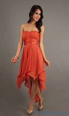 Bridesmaids.High Low Strapless Dress at SimplyDresses.com. Like this but maybe turqouise!!