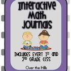 This product will change your way of thinking about and teaching math! In this document you will find interactive, hands-on journals and ALL TEMPLATES for 1st and 2nd grade math CCS! $