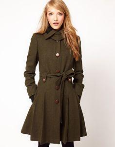 green kaki coat