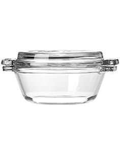 Buy Anchor Hocking 77889 Fire-King Casserole Baking Dish with Lid, Glass, Glass Teapot, Glass Ceramic, Tapas, Heat Resistant Glass, Baking Set, Anchor Hocking, Bakeware, Tray Bakes, Sweets