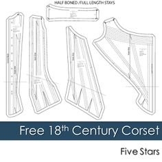 Free 18th Century Corset Pattern Review